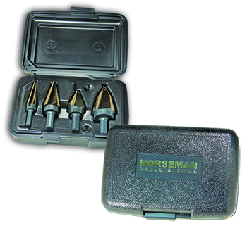 3-4pc. Electrician Quick Release Step Drill Set